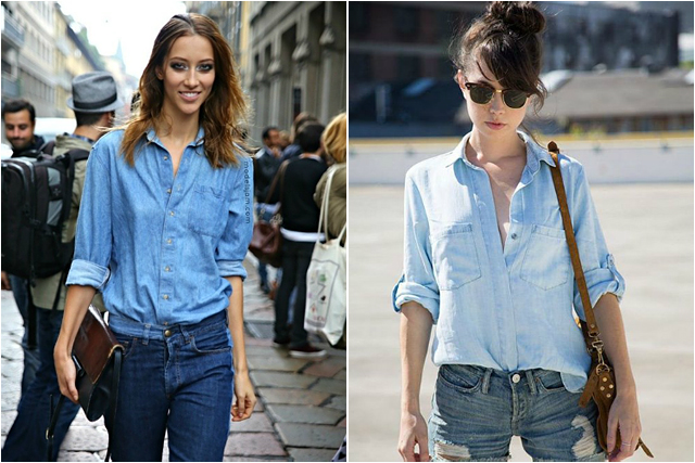Image result for double denim women
