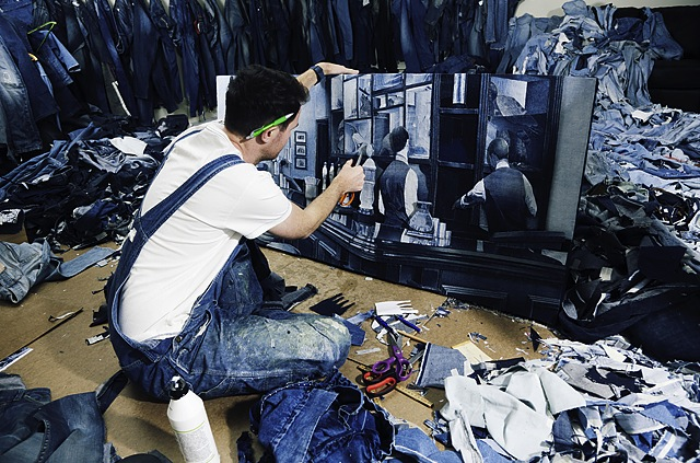 Ian-Berry-Denim-Art-Working