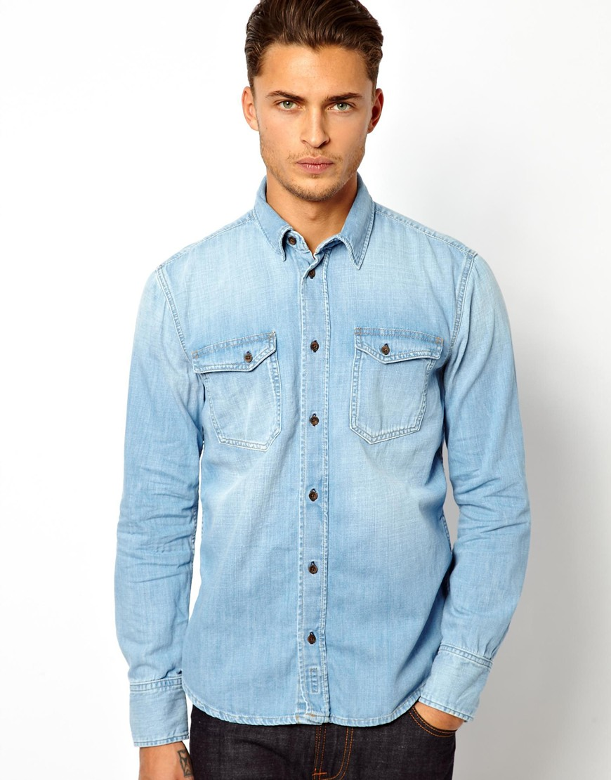 10 Men's Long Sleeve Denim Shirts For Summer | The Jeans Blog