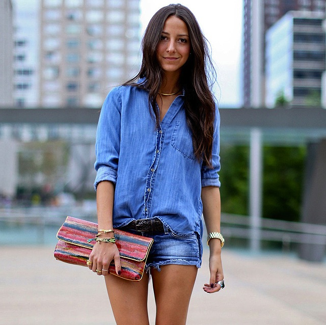 Denim On Denim Shorts