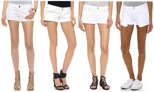 white-denim-shorts