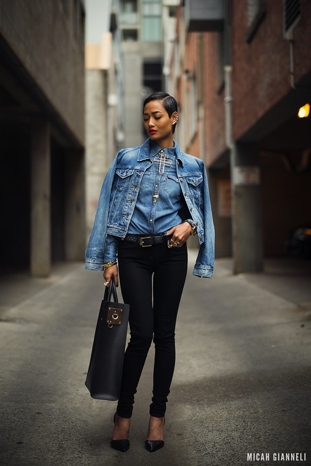 Micah-Gianneli-triple-denim