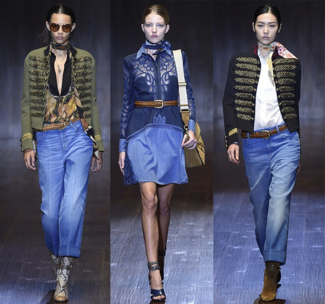 The ss15 denim trends from milan fashion week the jeans blog for Gucci milan fashion week
