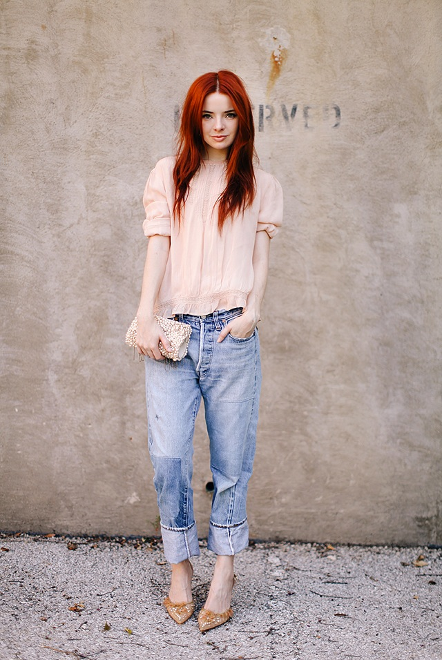 sea-of-shoes-in-vintage-levis-jeans