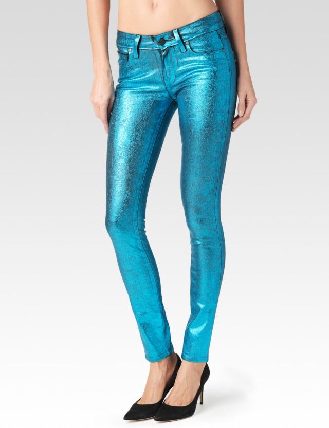 paige-denim-crackled-foil-turquoise-jeans