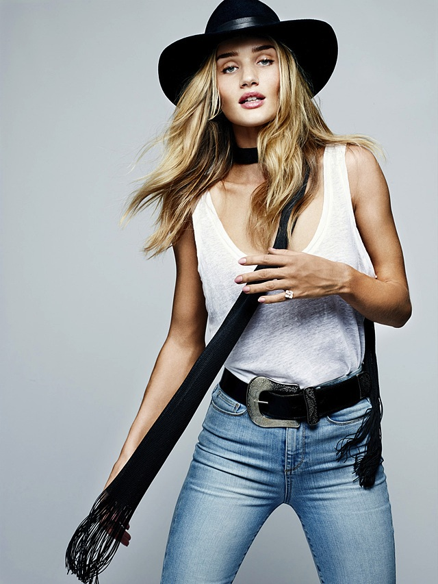 Rosie Huntington Whiteley X Paige Denim SS15 Campaign