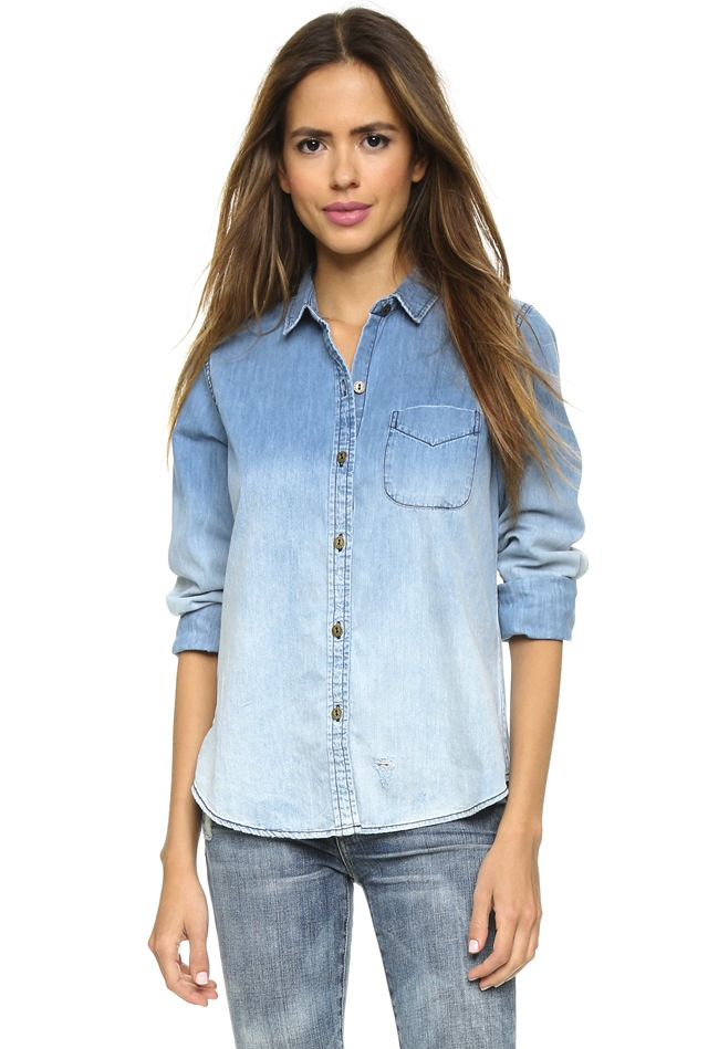 10 Summer Ready Denim Shirts For Women | The Jeans Blog