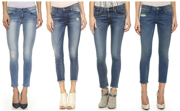 CROPPED JEANS FOR WOMEN - HIGH RISE CROPPED JEANS, MID RISE CROPPED JEANS, AND LOW RISE CRO. Expand your casual wardrobe options with contemporary high-rise cropped jeans. Enjoy wearing this style of jean as an alternative to your favorite bootcut jeans for added variety. Rolled cuff styles by AG, NYDJ and True Religion are a good choice for grabbing a burger and hanging out .