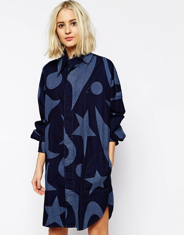 vivienne-westwood-anglomania-jeans-drape-front-denim-shirt-dress-in-circus-moon-star-print