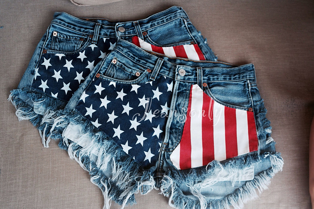 4th-july-flag-denim-shorts