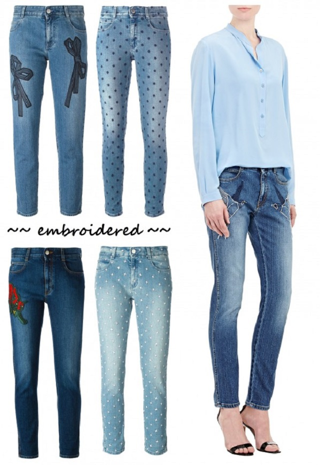 Embroidered Stella McCartney Jeans