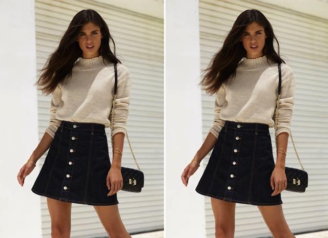 alexa-chung-revolve-denim-skirt-sweater