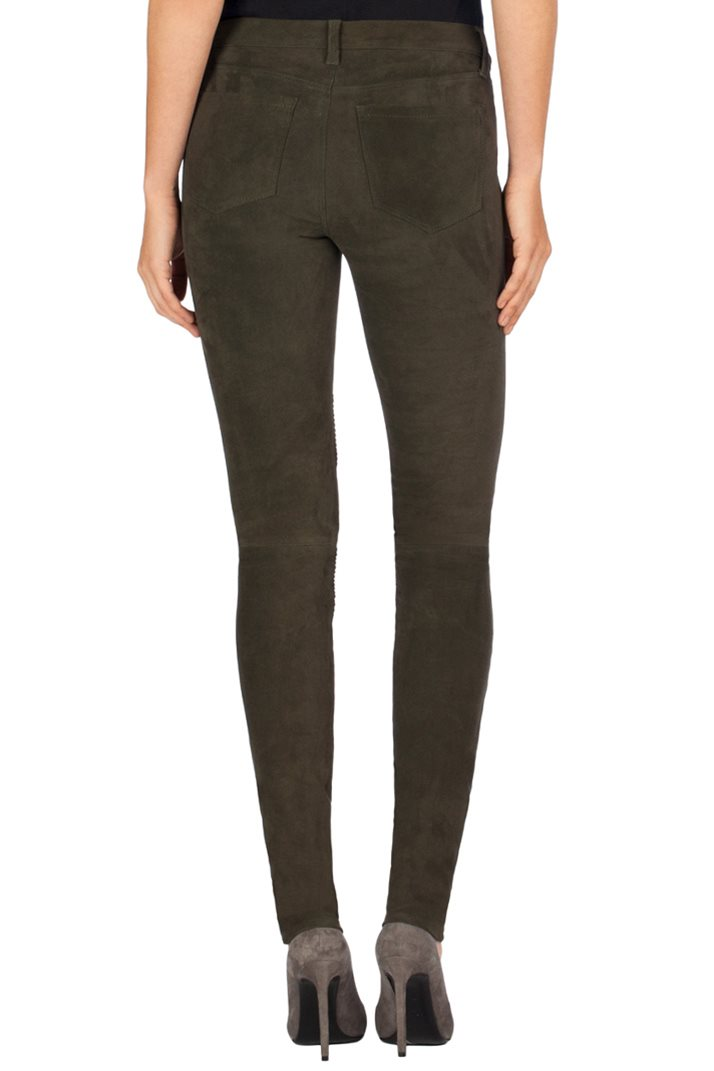 J Brand N8094 Tonya Leather Moto Jeans in Nubuck Camo 2