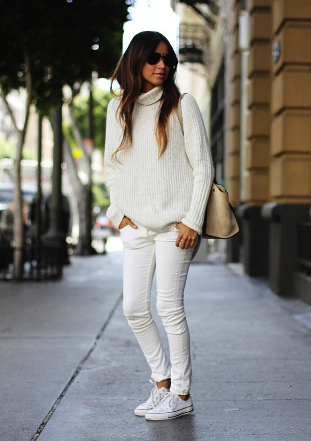 How To Wear White Jeans in Fall &amp Winter  The Jeans Blog