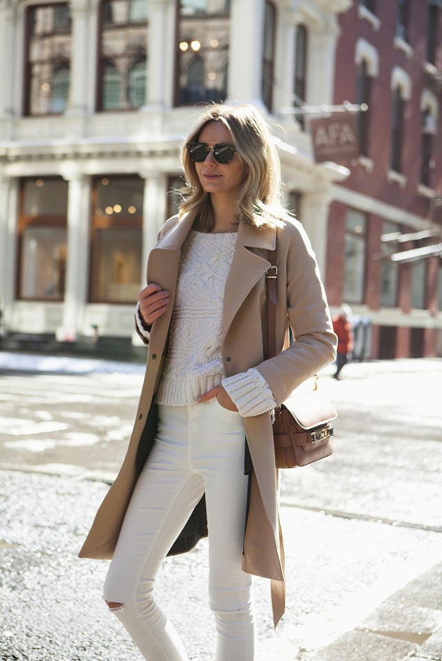 How To Wear White Jeans in Fall & Winter