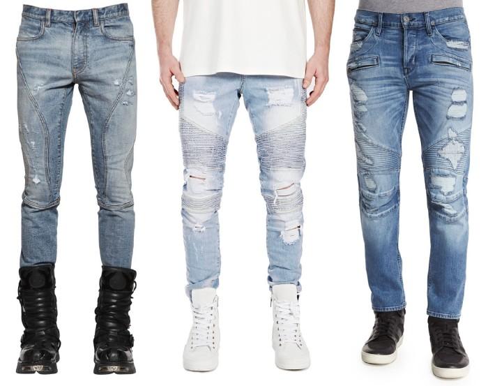 Blue Biker Jeans