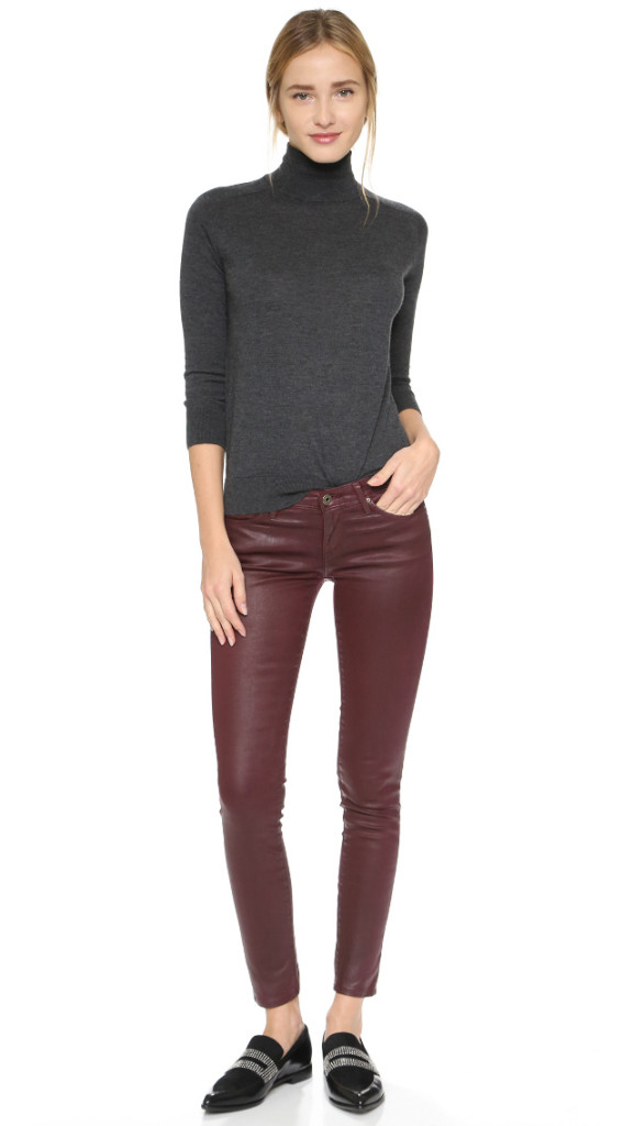AG the Leatherette Leggings RED