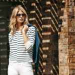 STRIPE-SWEATER-in-Ivory-Navy-LOU-LOU-FLARE-with-UNDONE-HEM-in-Ultra-White-Destructed-2