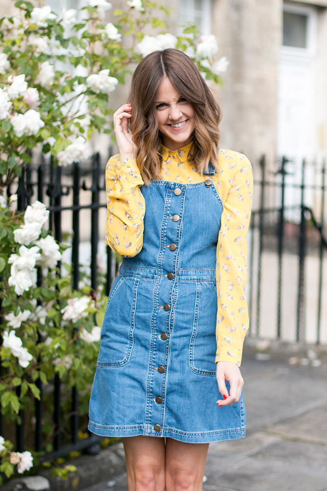 denim-button-dress