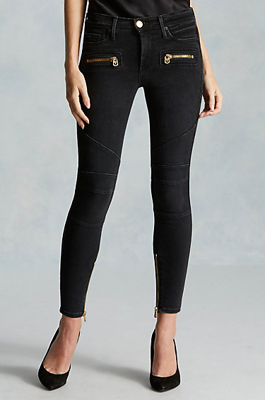 Black Coated Jeans Womens