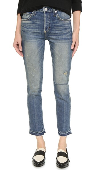 AMO Babe High Rise Cropped Slim Jeans Dive Bar