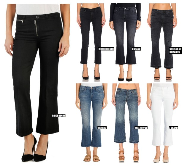 The Cropped Kick Flare Denim Trend For Spring 2016 | The Jeans Blog