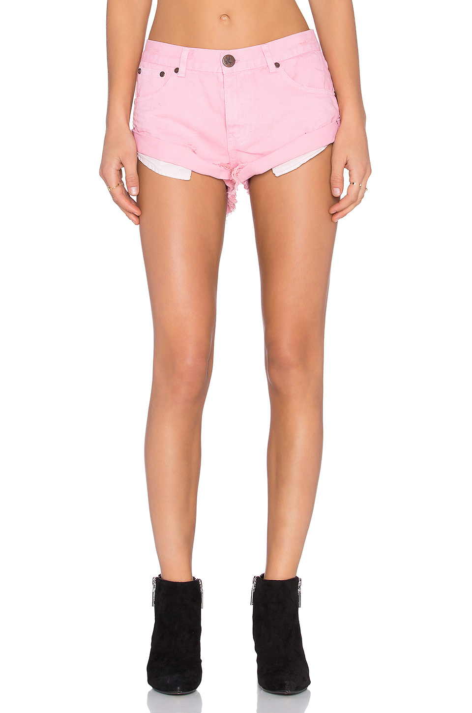 one teaspoon bandit shorts hot pink
