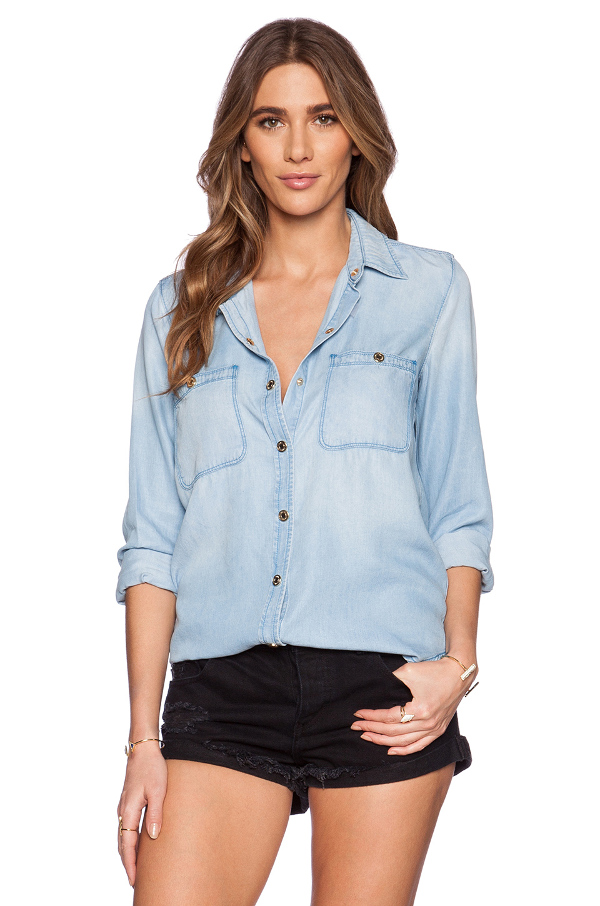 7 for all mankind denim boyfriend shirt