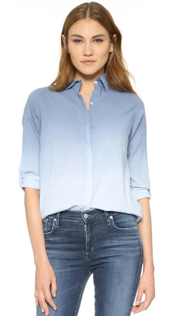 Sundry Ombre Denim Button Down Shirt