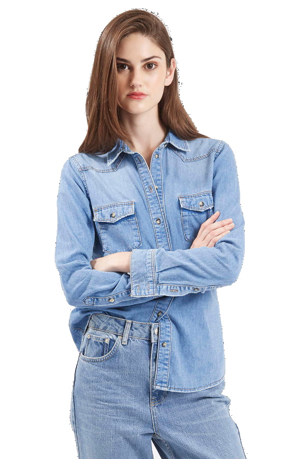 Top Shop Moto Fitted Western Shirt
