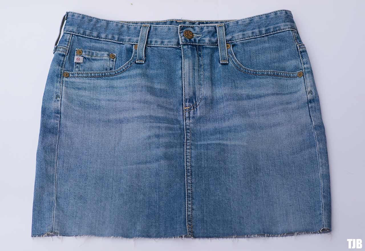 ag denim mini skirt in 13 years abyss blue review