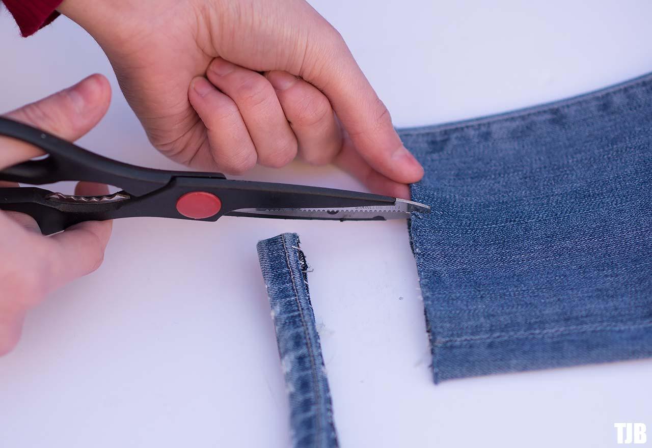 DIY Raw Hem Edge Chopped Hem How To Jeans 2