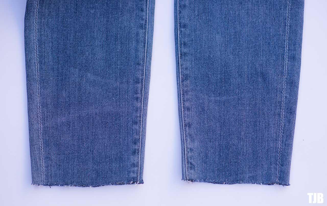 DIY Raw Hem Edge Chopped Hem How To Jeans 5