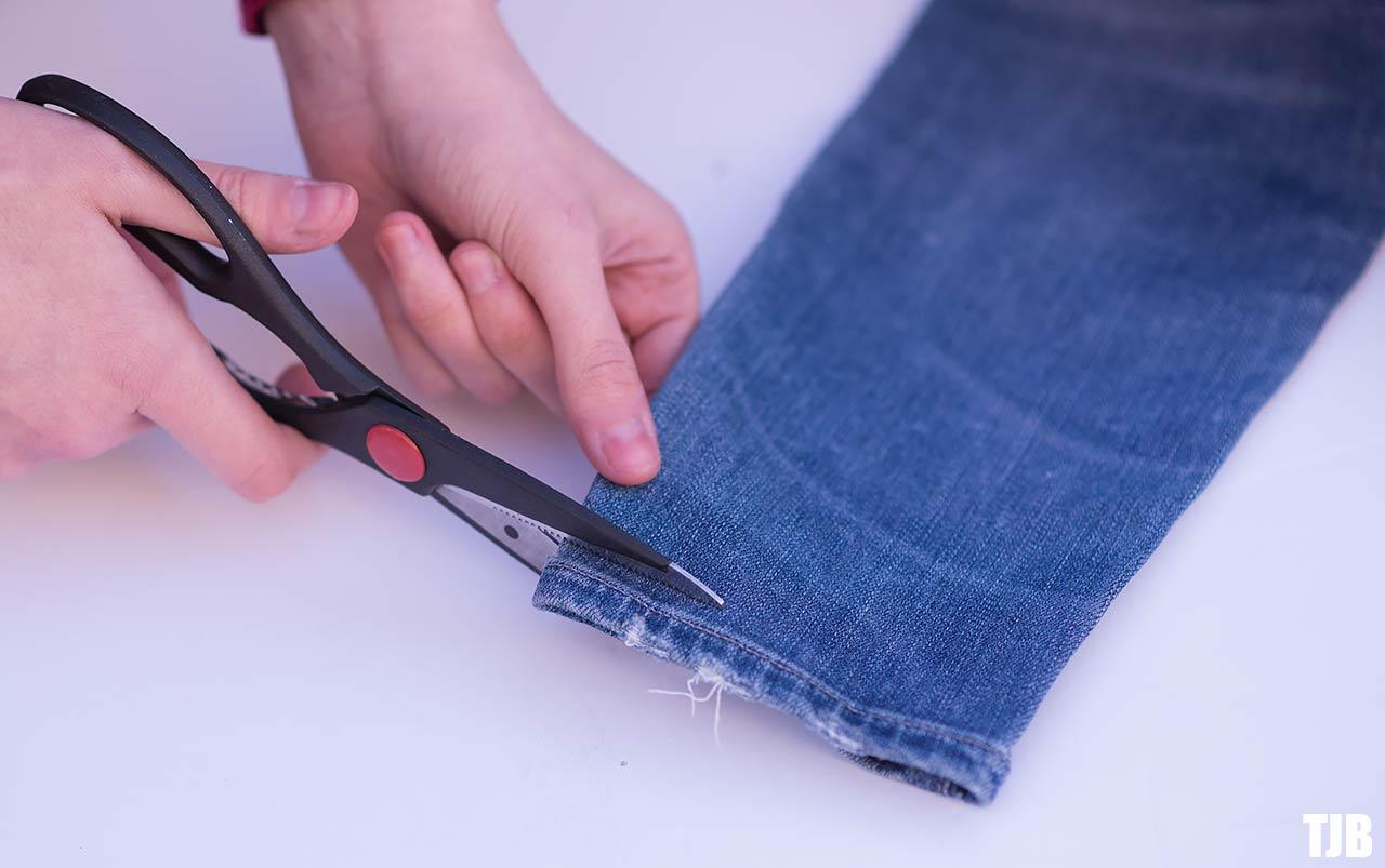 DIY Raw Hem Edge Chopped Hem How To Jeans 6