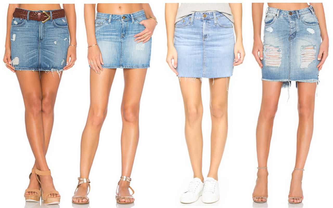 20 Cute Denim Mini Skirts For Summer 2016 | The Jeans Blog
