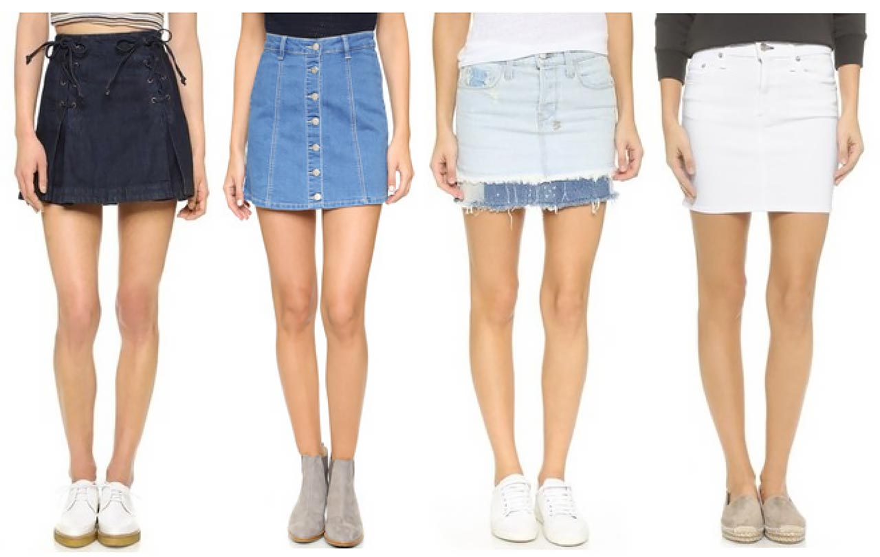20 Cute Denim Mini Skirts For Summer 2016 | The Jeans Blog