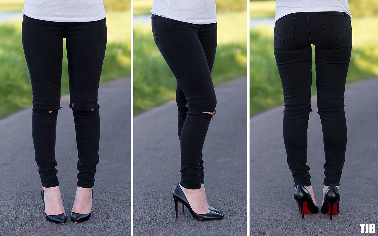 super skinny jeans - Black GRLFRND Ol1VPS