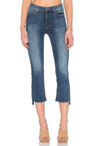 mother insider crop step fray jeans 2