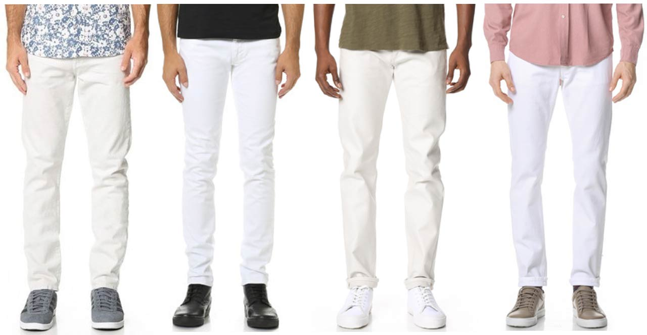 Mens White Jeans 100
