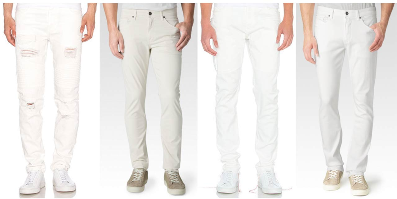 White Mens Jeans | Bbg Clothing