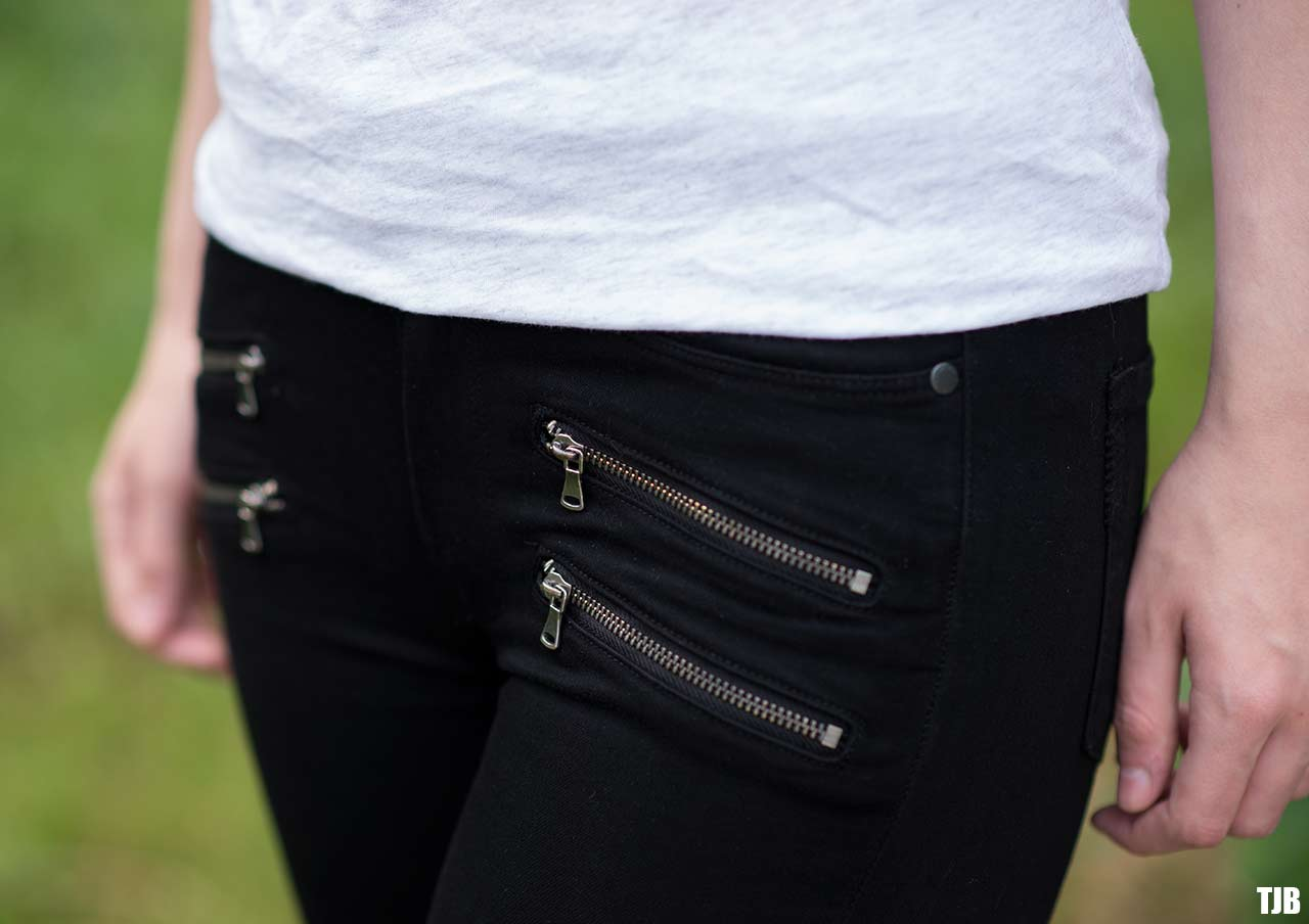 PAIGE High Rise Edgemont Jeans in Black Shadow Review 7