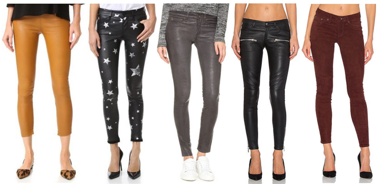 Amazing Leather and Suede Pants v3po5pDEd