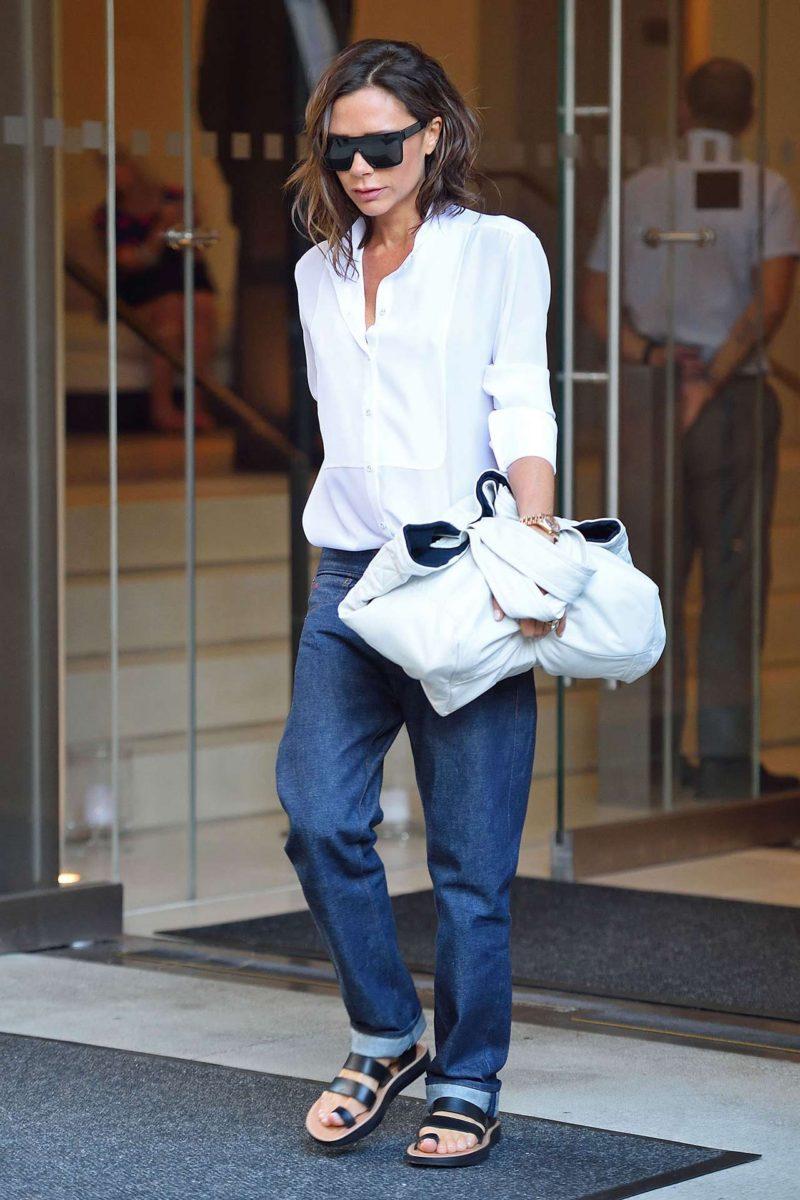 Victoria Beckham Wears Victoria Beckham Jeans