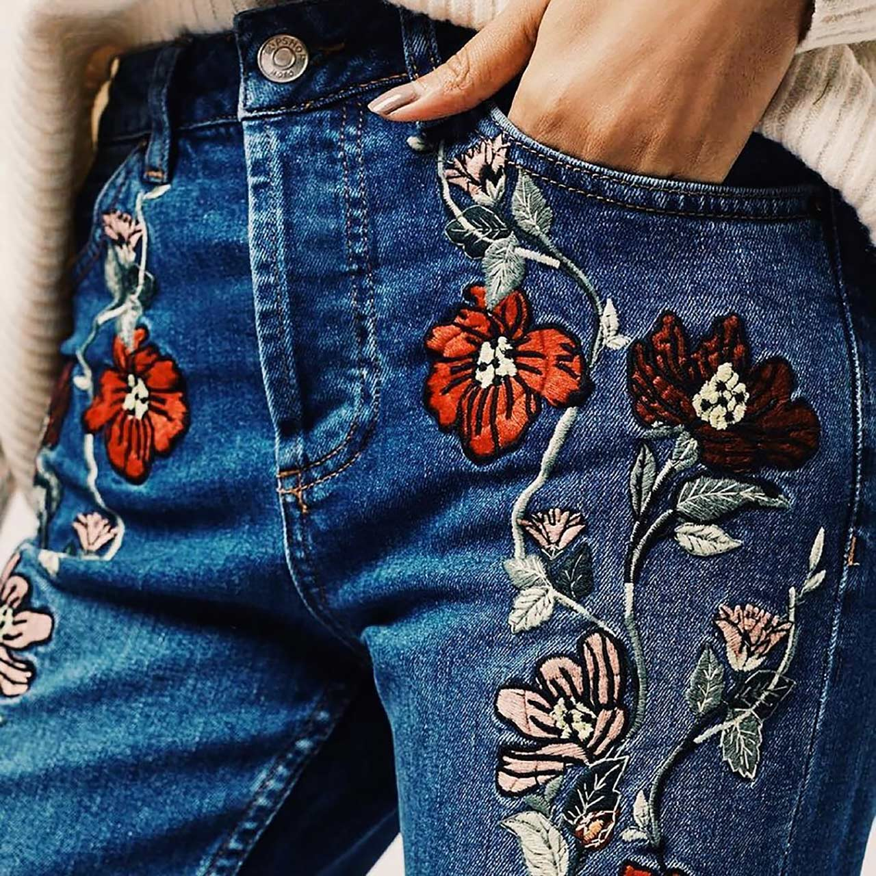 The Embroidered Denim Trend For Winter 2016 The Jeans Blog