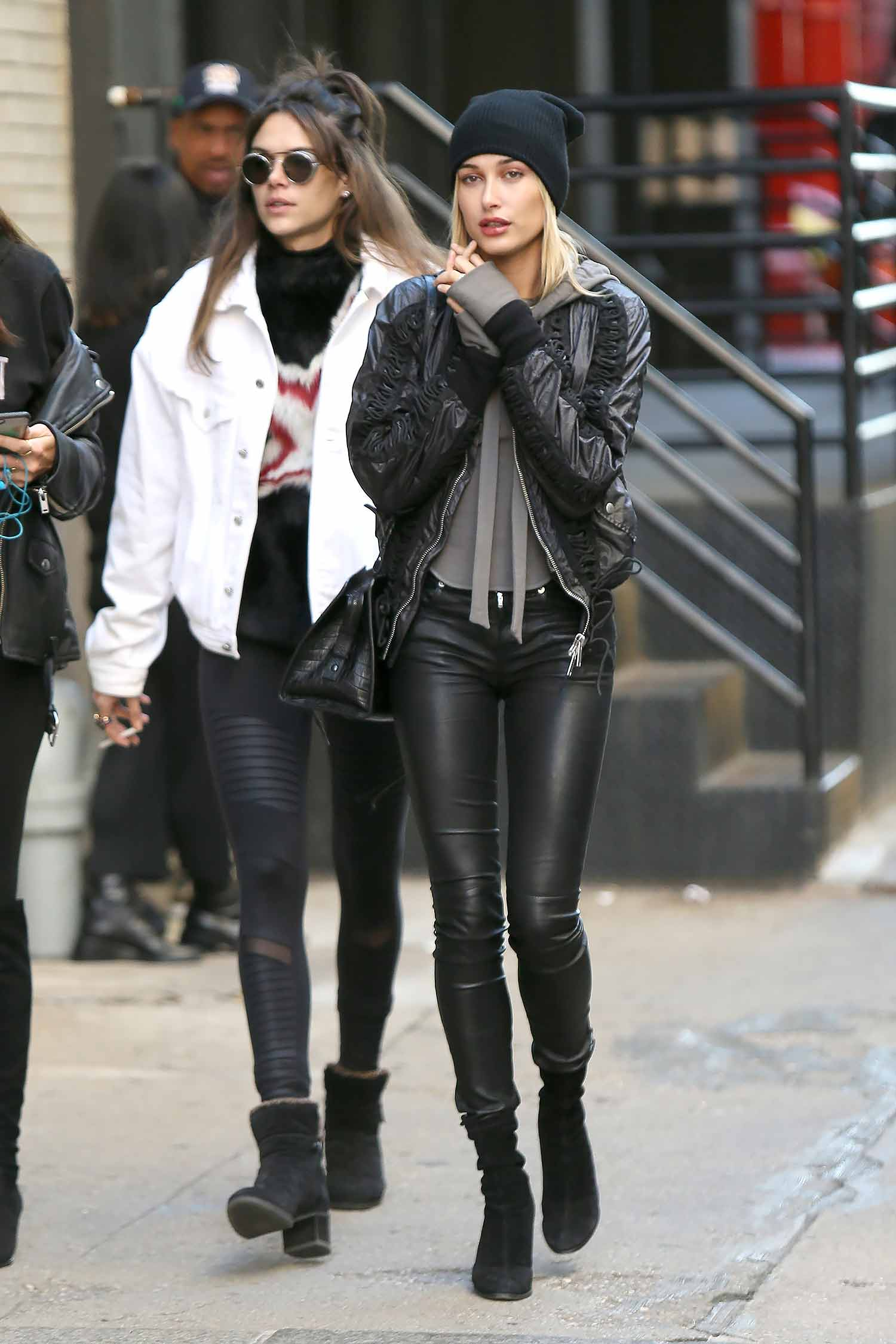 hailey-baldwin-saint-laurent-leather-pants