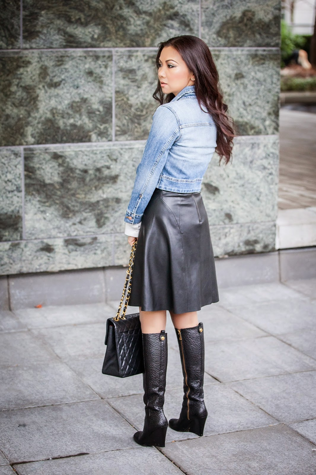 8 ways to wear denim with leather the