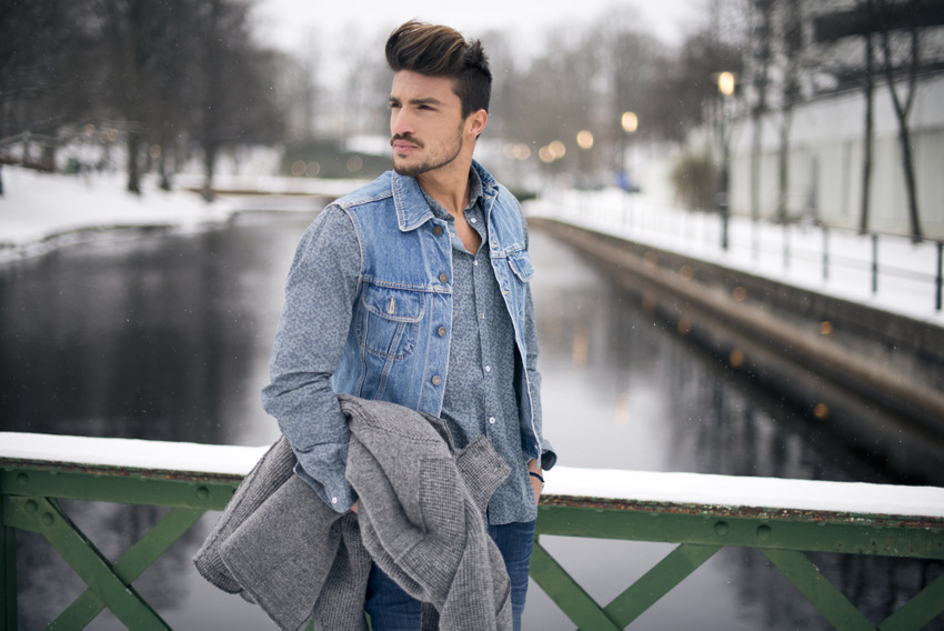 Giacca jeans outfit uomo