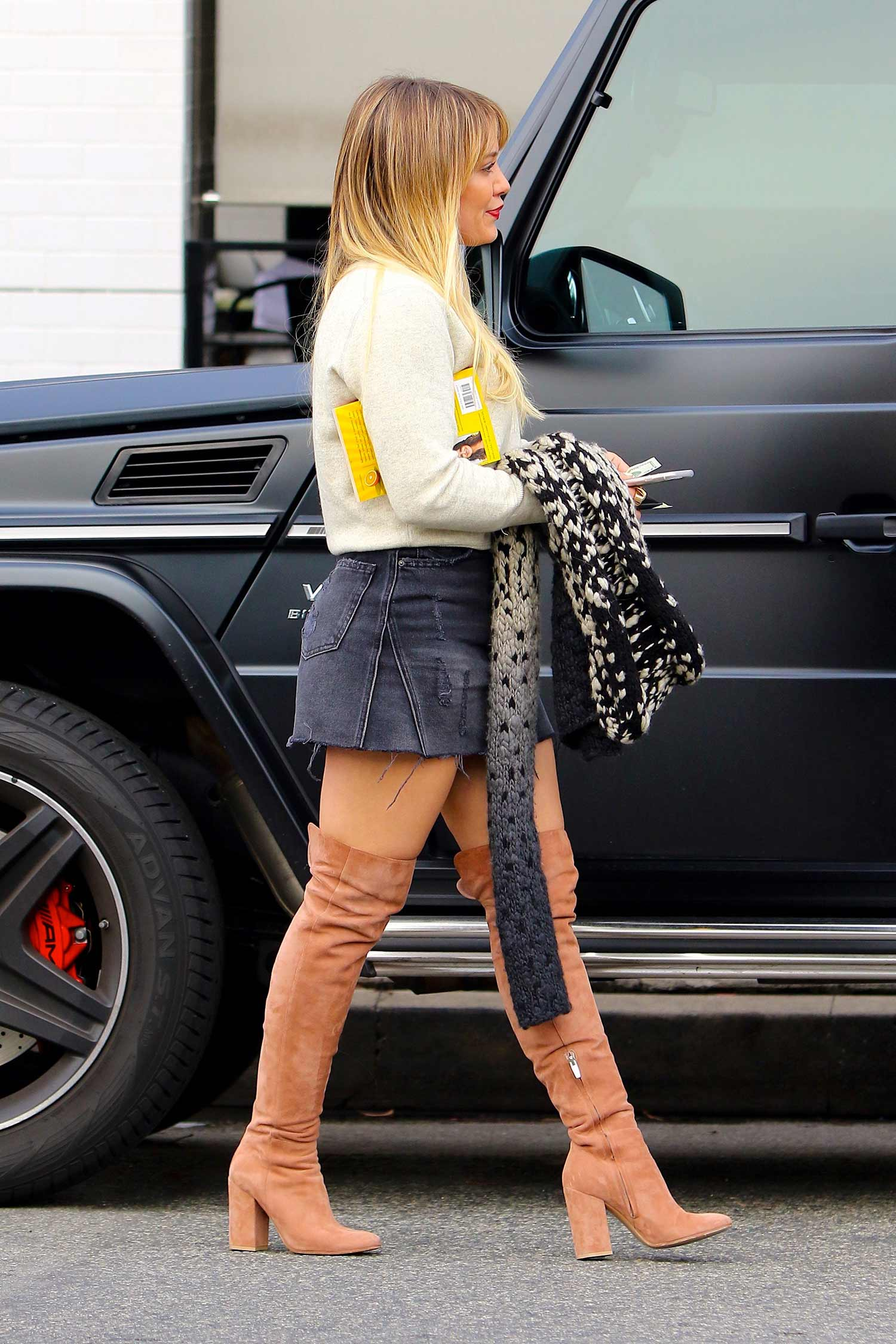 hilary-duff-denim-mini-skirt-thigh-high-boots
