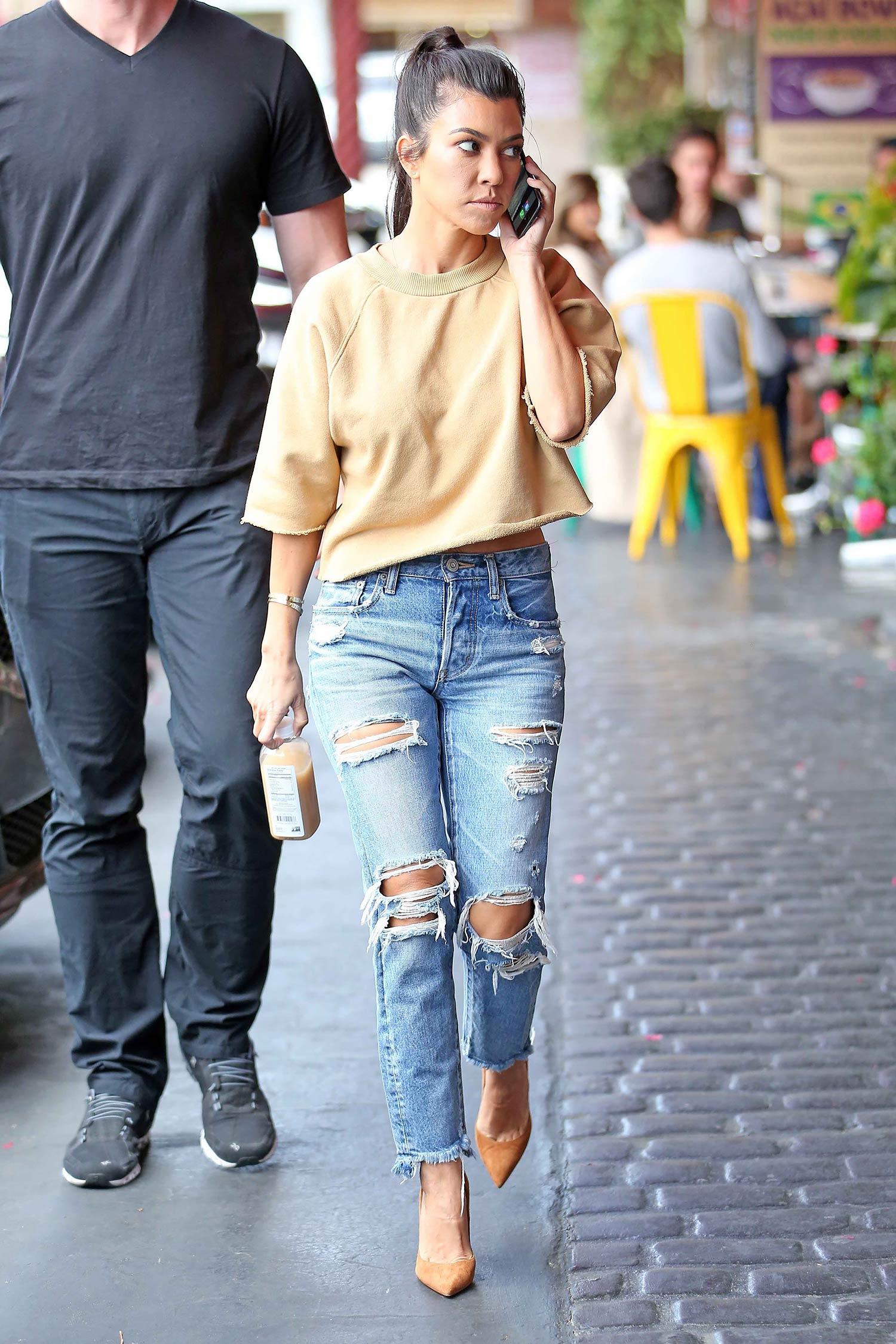 Kourtney Kardashian Wears MOUSSY Jeans