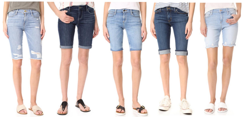 bermuda jean shorts for women